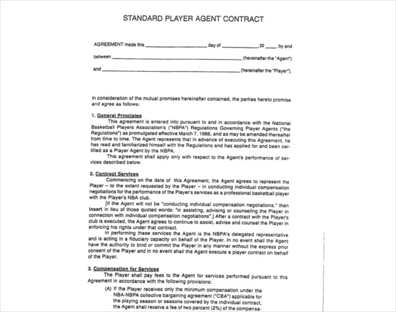 Agent Contract Templates | 11 Agent Contract Examples Samples Pdf Doc Examples