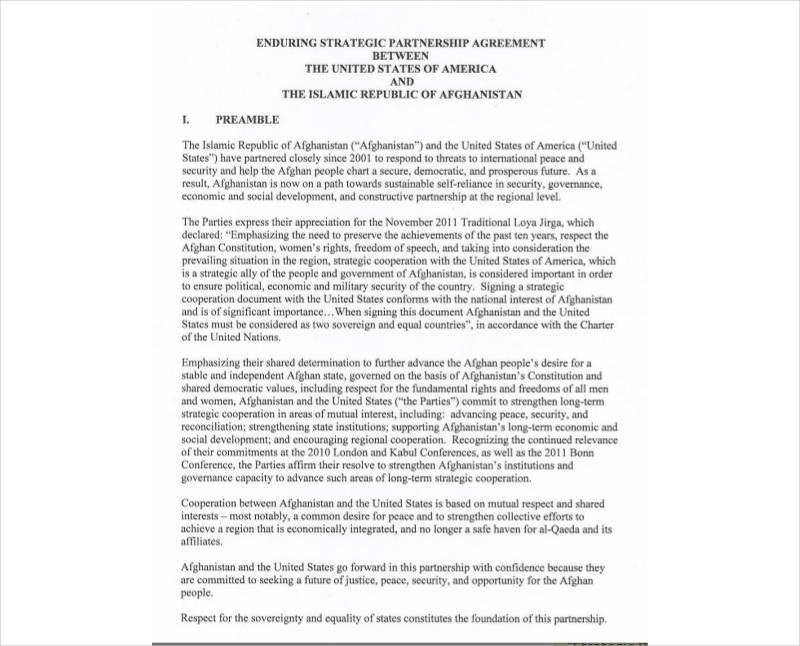 strategic partnership agreement