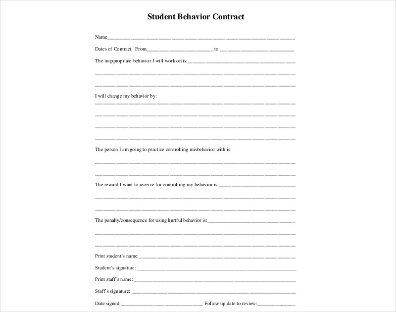 student behavior contract1