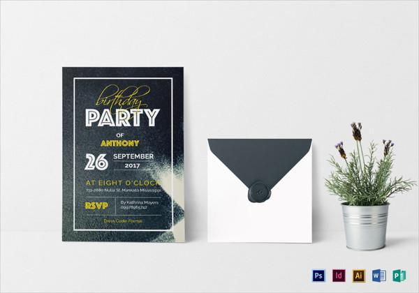 teen birthday invitation in word