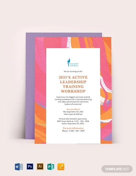 FREE 16+ Workshop Invitation Designs & Examples in