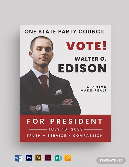 vote election flyer template