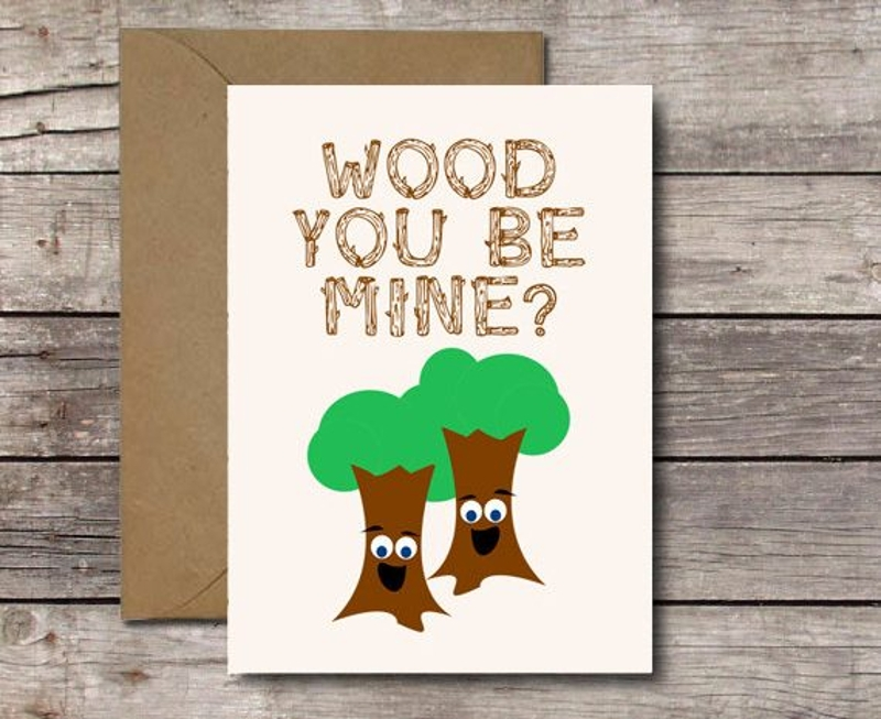 witty romantic greeting card