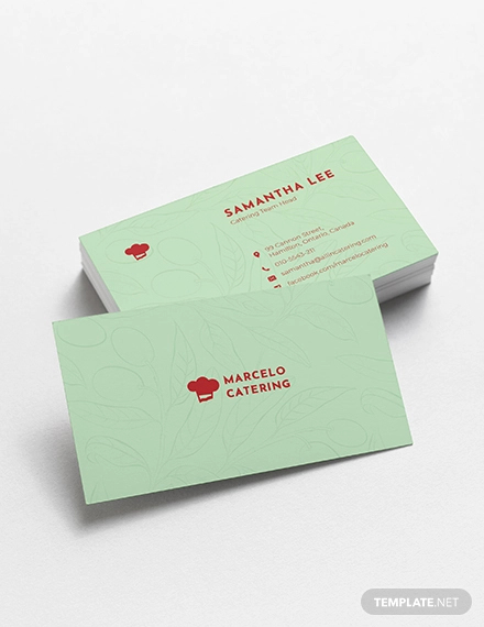 catering service business card1