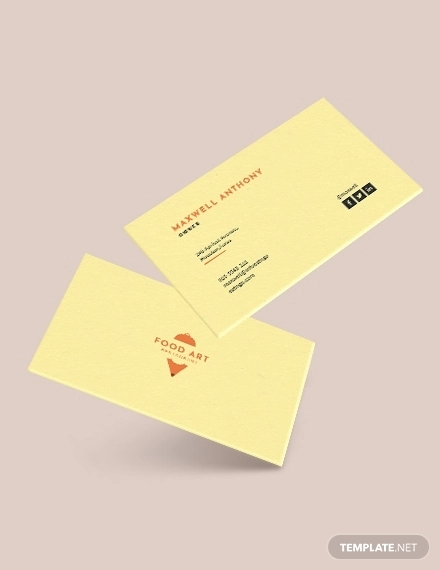 creative restaurant business card