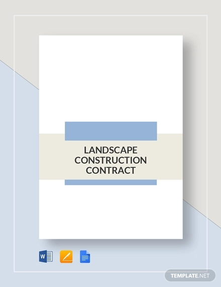 landscape construction contract
