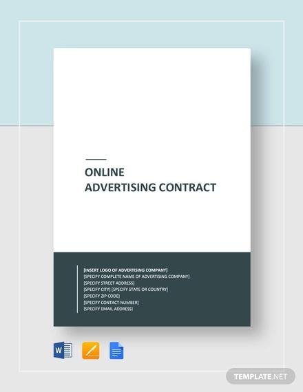 online advertising contract