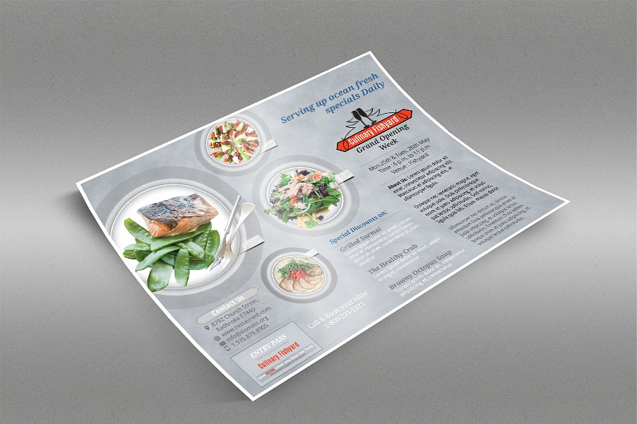preview multipurpose restaurant flyer template 1