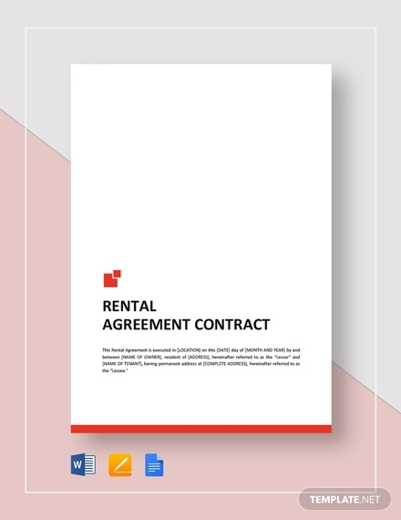 rental agreement contract