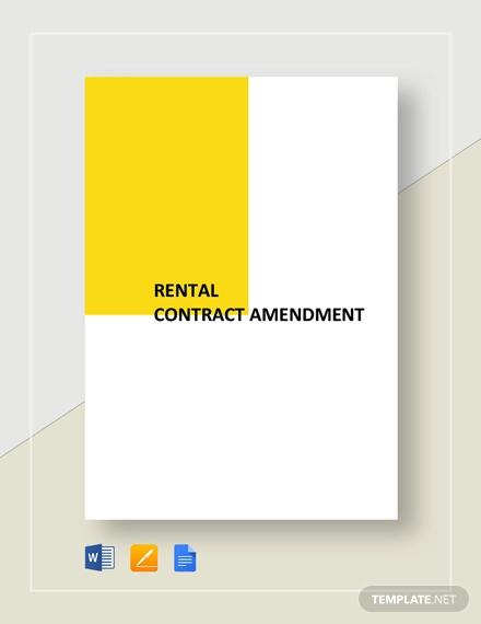 rental contract amendment