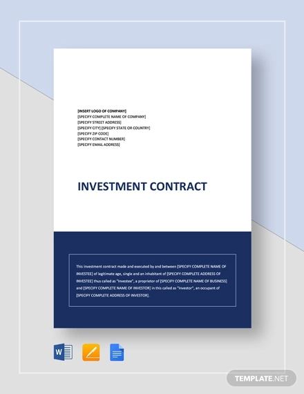 simple investment contract1