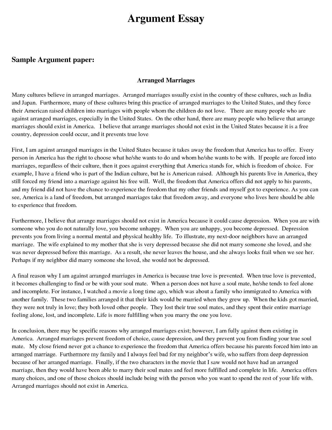 Example of an essay paper