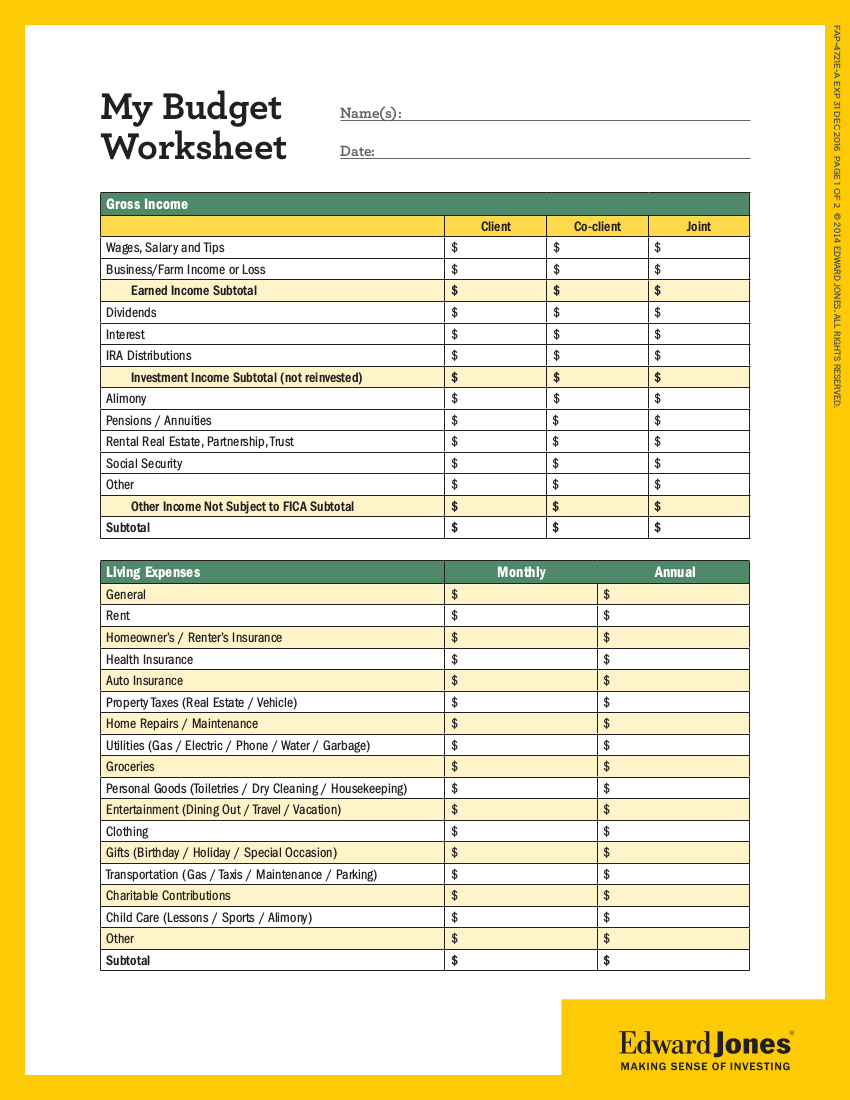 Worksheets Wells Fargo Budget Worksheet 15 budget worksheet examples in pdf personal example