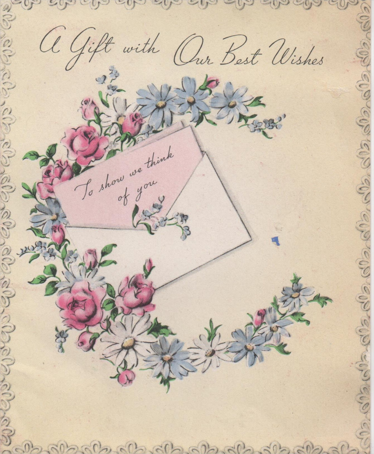 1940s greeting card