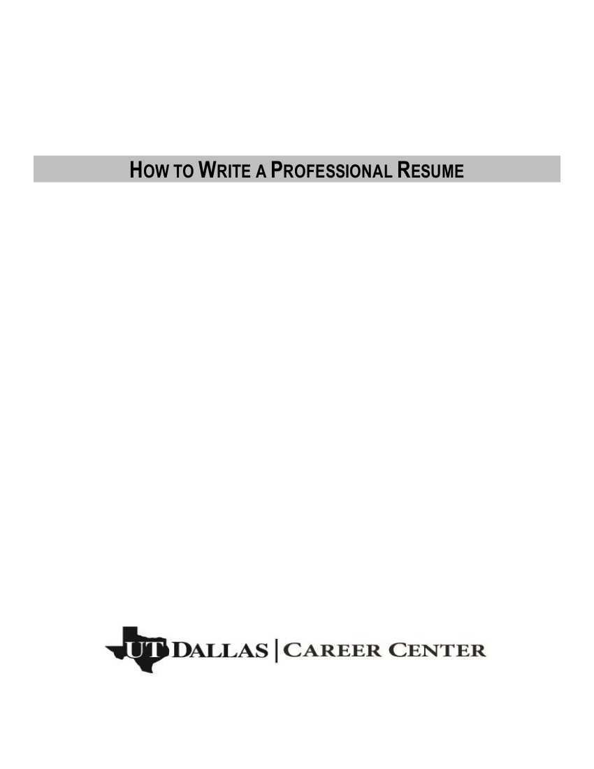 resume outline