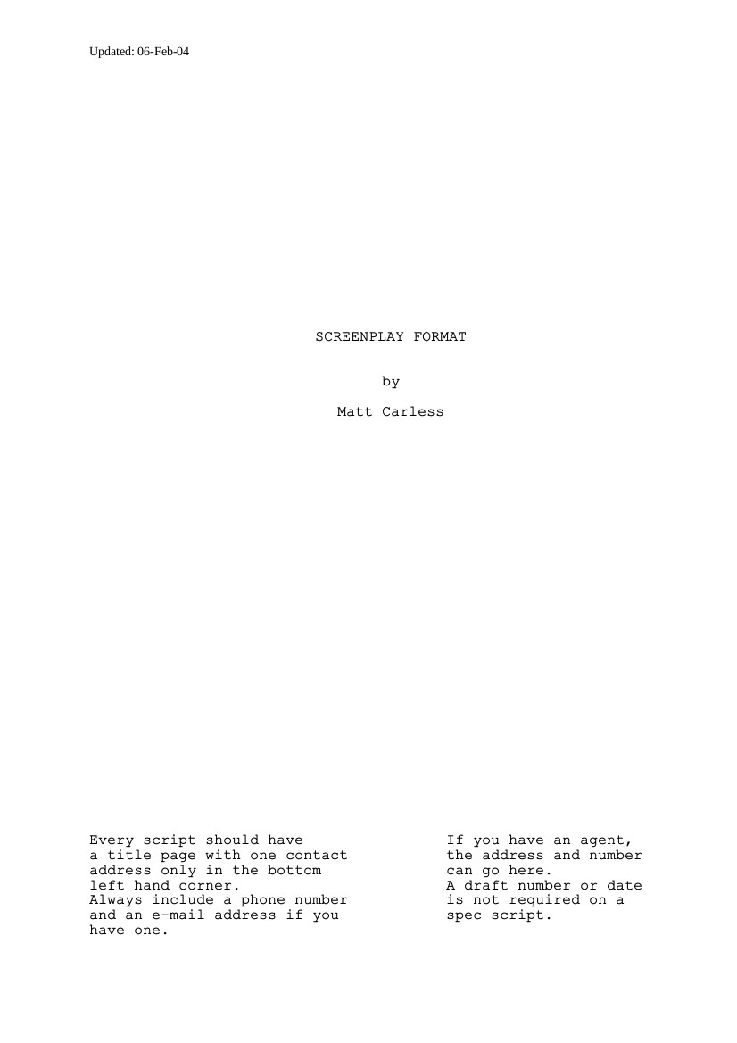 Screenplay Outline Template Yelomphonecompany