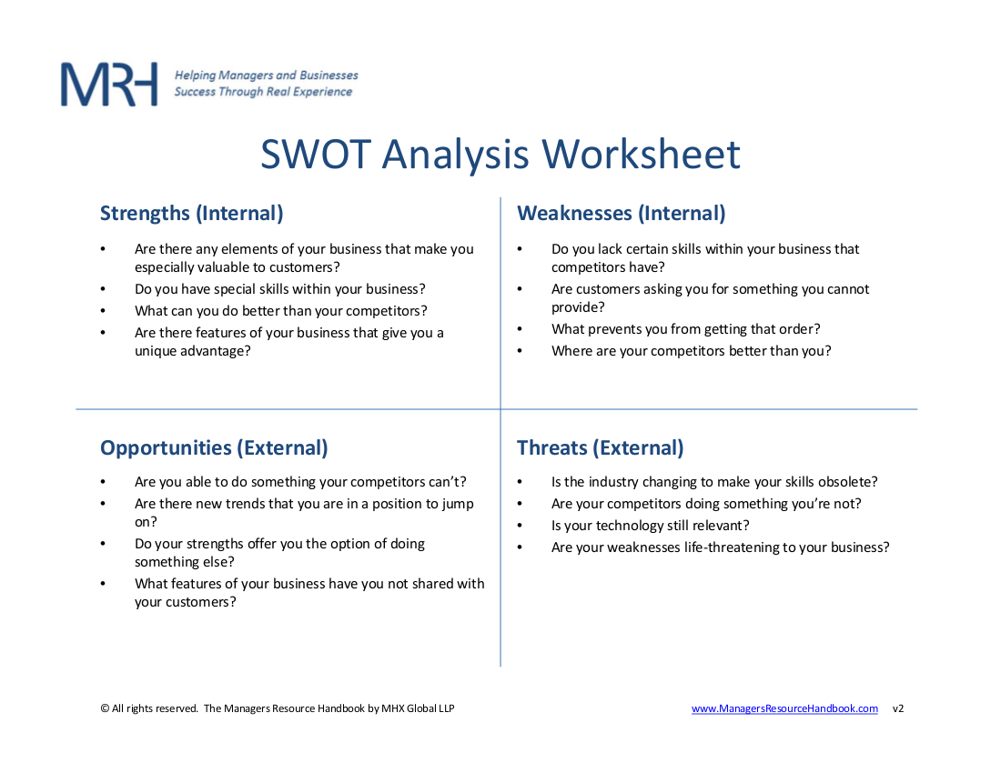 14+ SWOT Analysis Worksheet Examples & Samples - PDF, Word, Pages ...