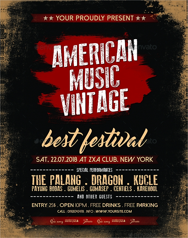 american vintage flyer and poster