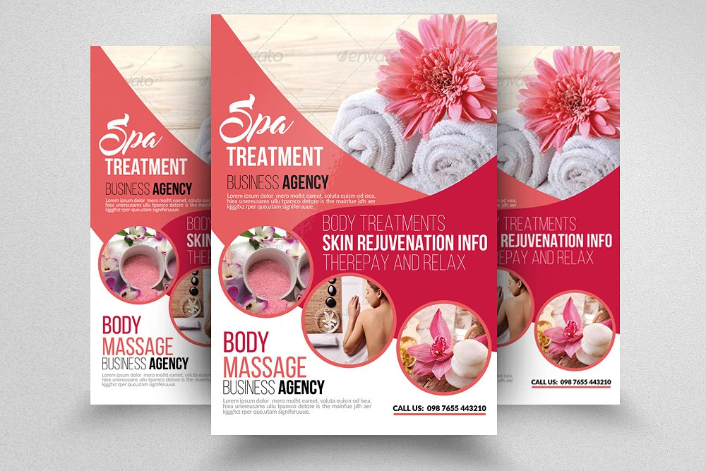 beauty and spa flyer templates