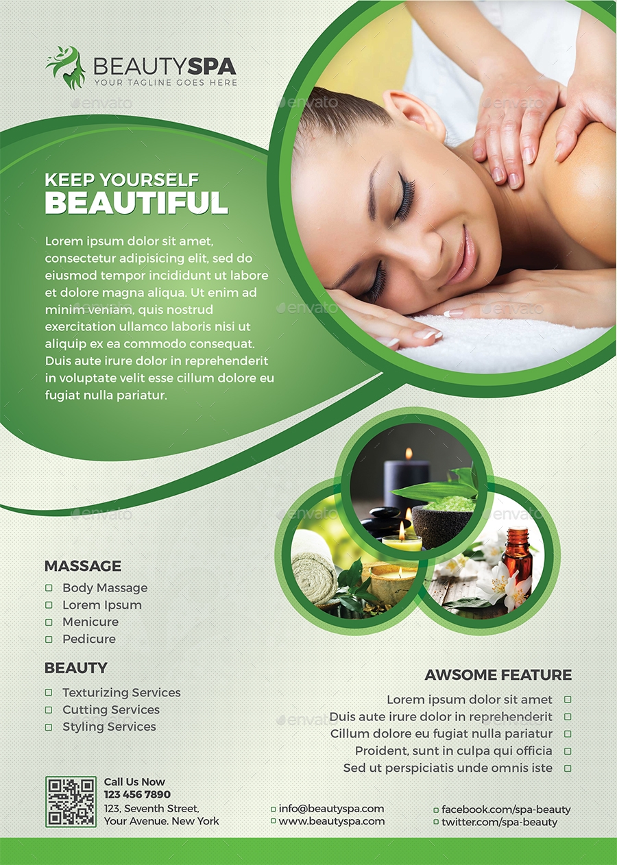 beauty and spa flyer