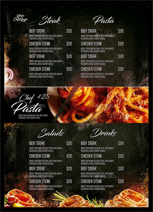 blazing italian food menu