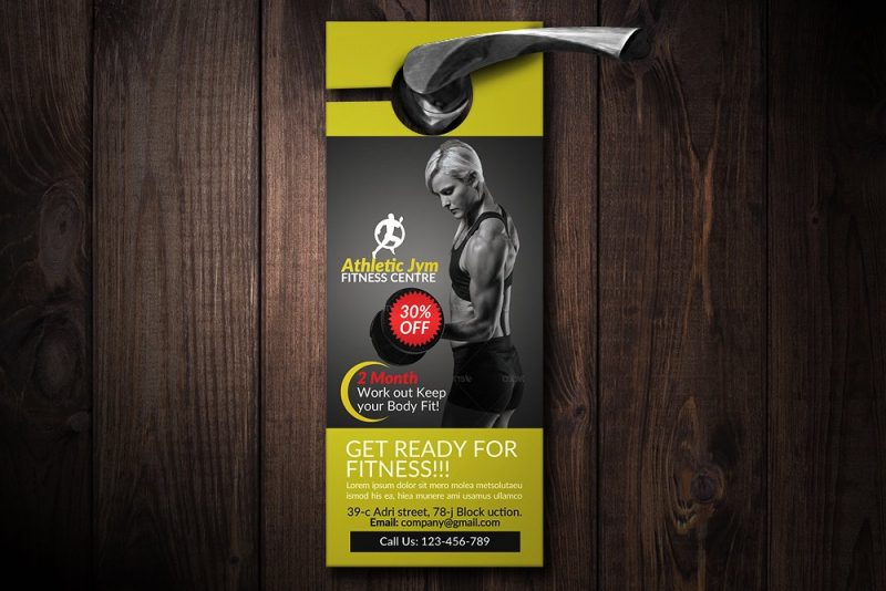 body fitness gym door hanger