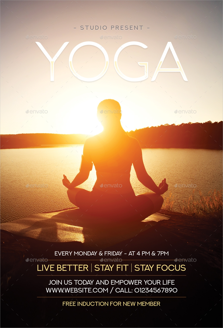 calming yoga flyer