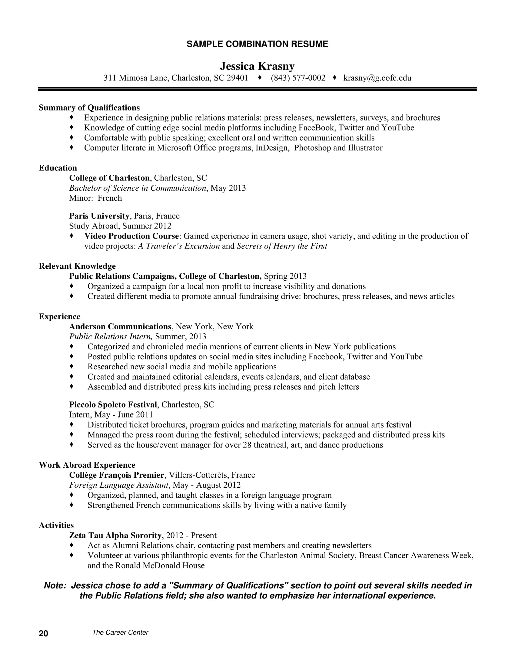 9 Career Summary Examples Pdf
