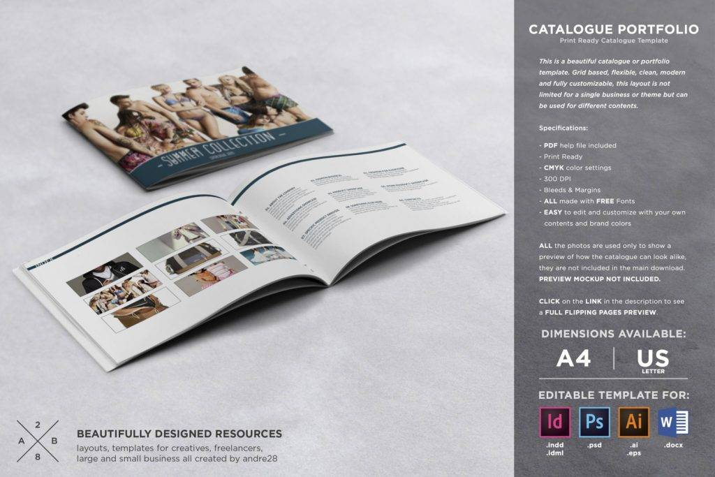 catalog portfolio design template