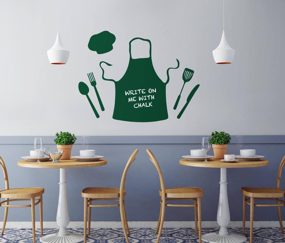 chalkboard takeout menu chefs apron