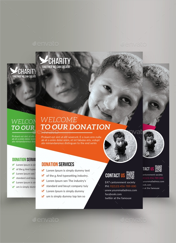 charity and donation flyer bundle