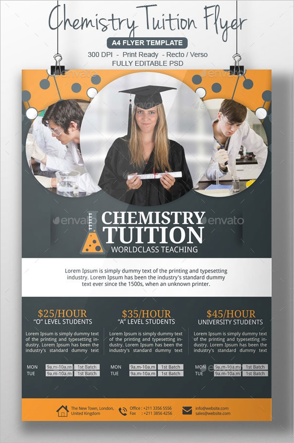 Tutoring Flyer Designs  Examples  Ai Psd Pdf