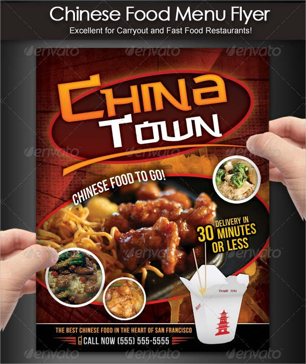 chinese food menu and flyer