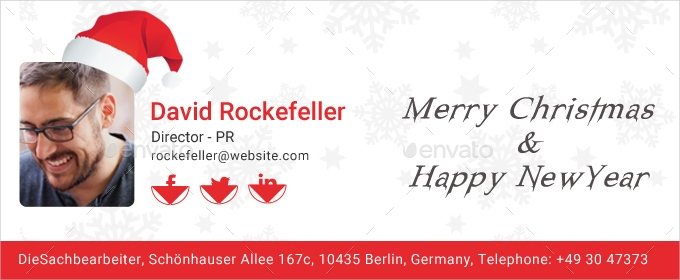 christmas email signature psd