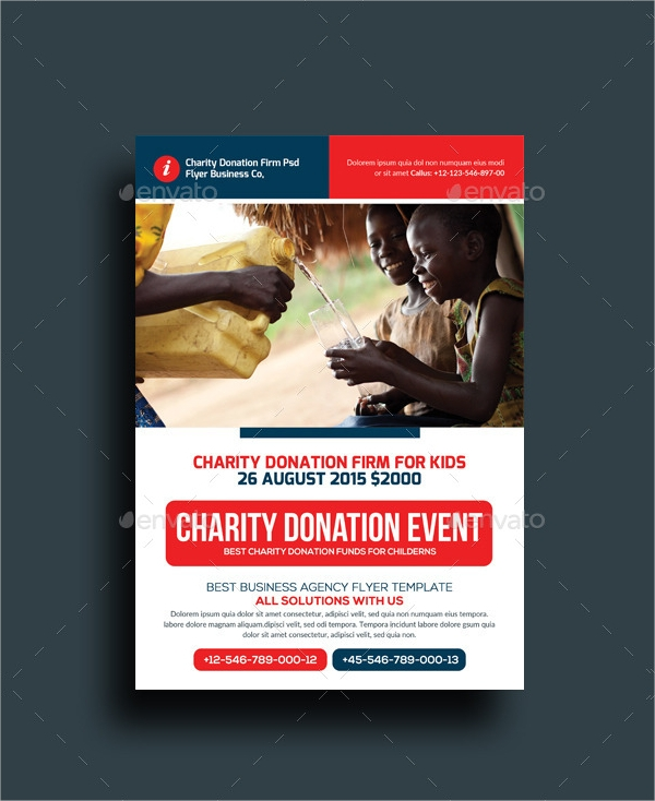 Classic Donation Flyer Template  Donation Flyer Template