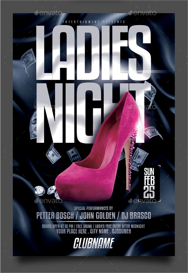 classic ladies night flyer