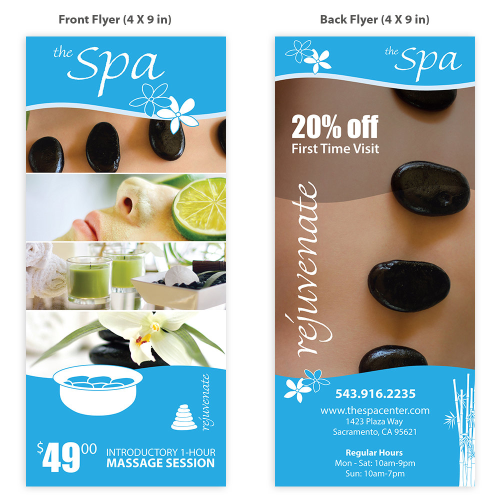 classy spa template flyer