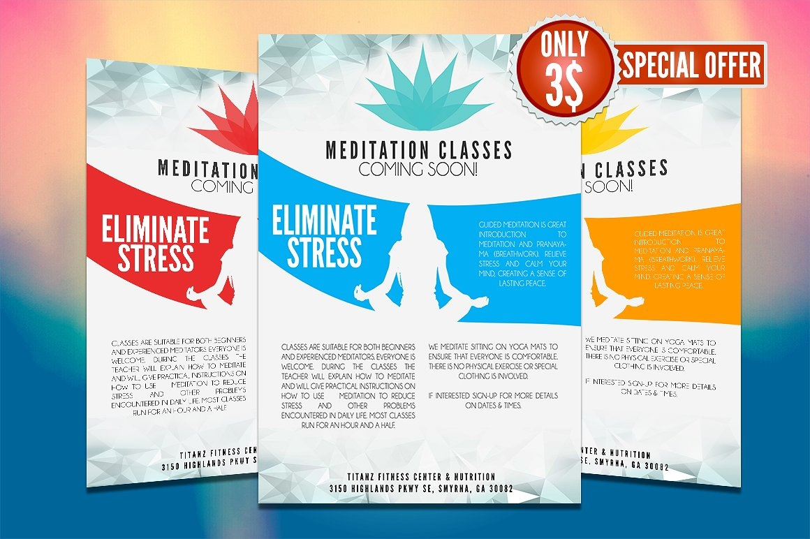 colorful yoga flyer template1