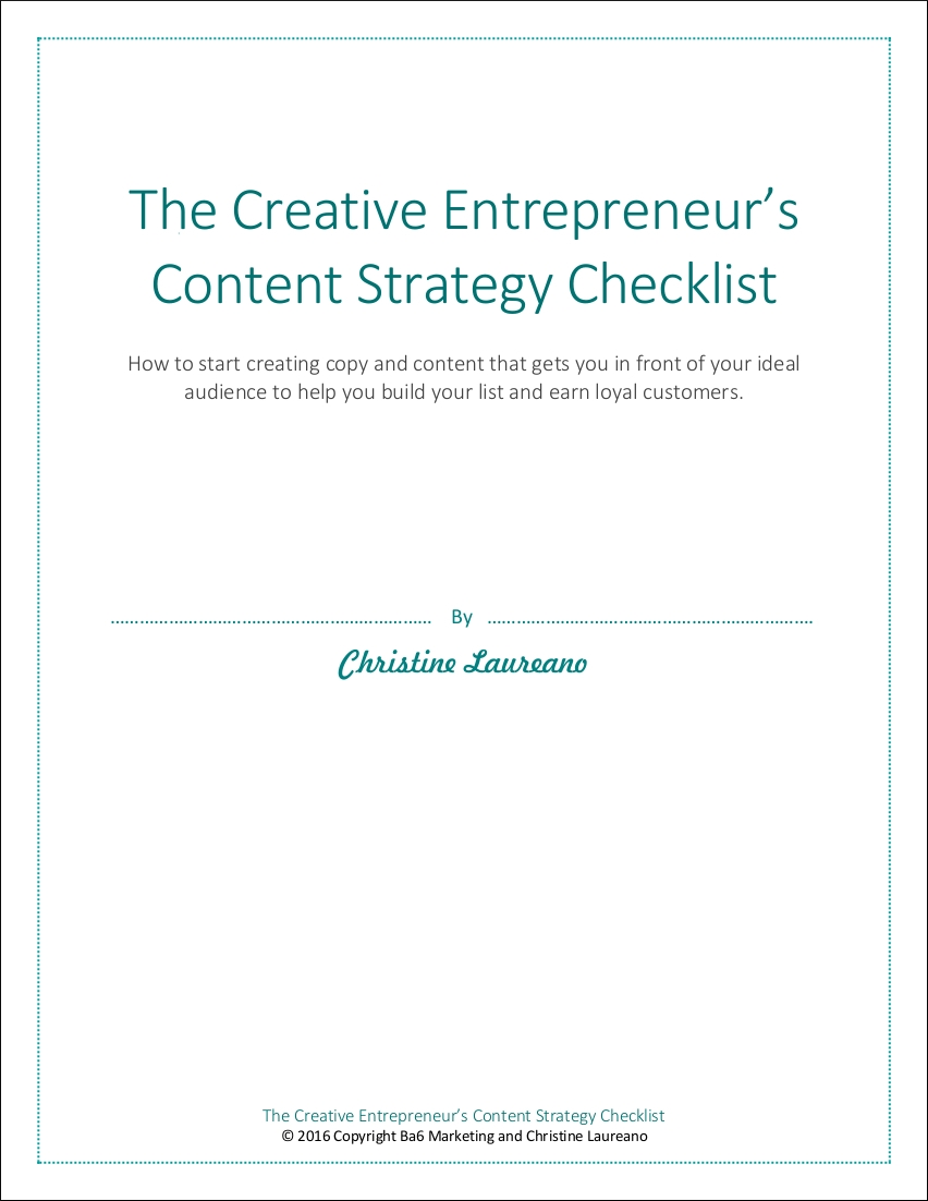 content marketing strategy checklist example