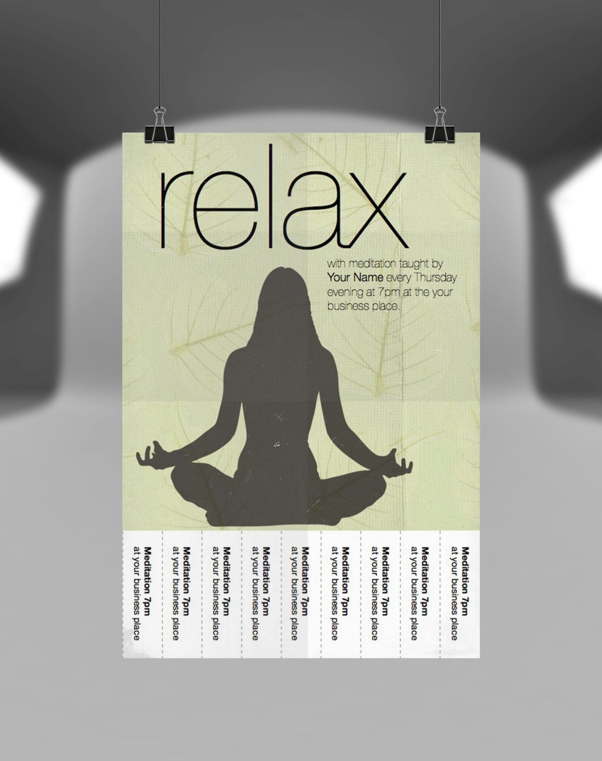 custom personalized yoga flyer