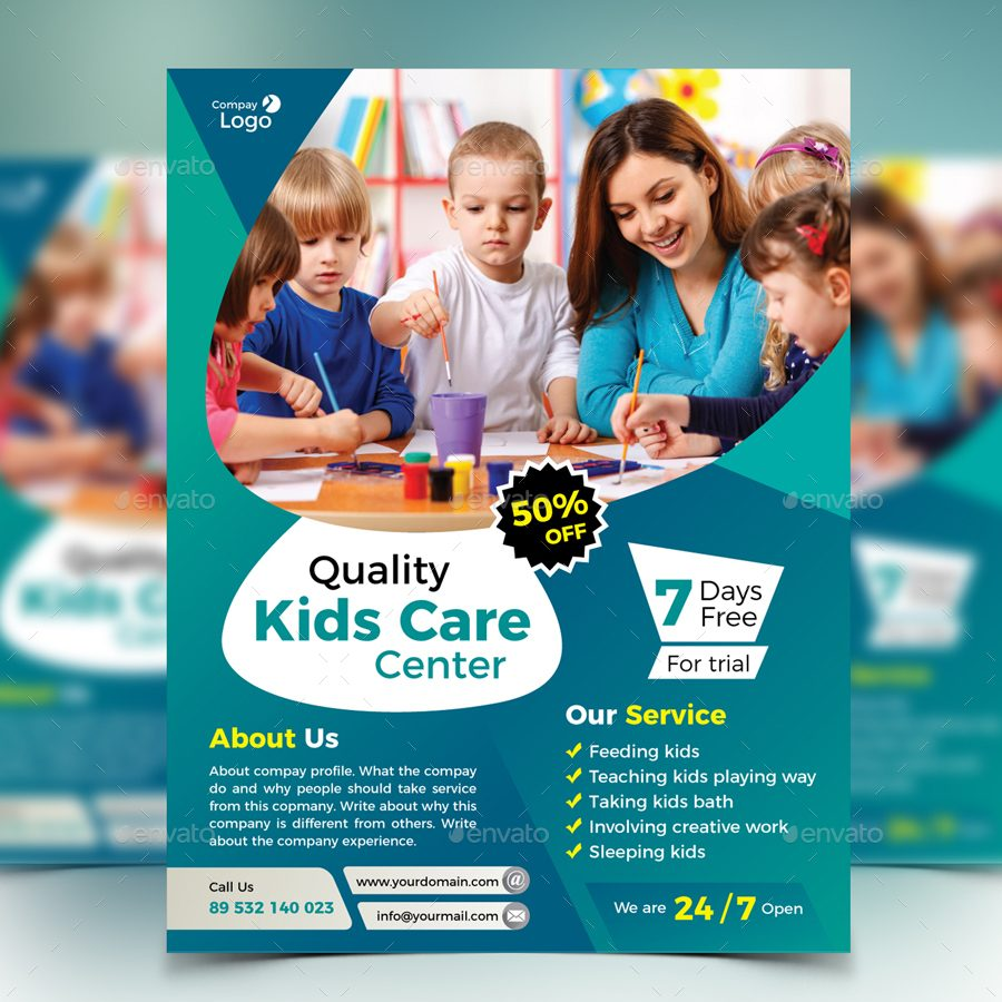 customizable kids care flyer