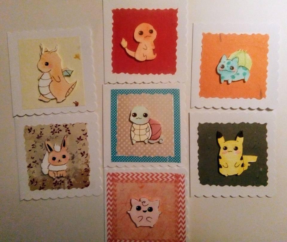 cute chibi pokémon greeting cards