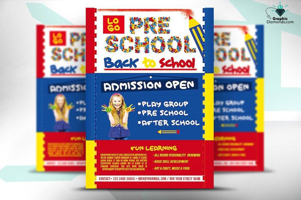 day care back to school flyer