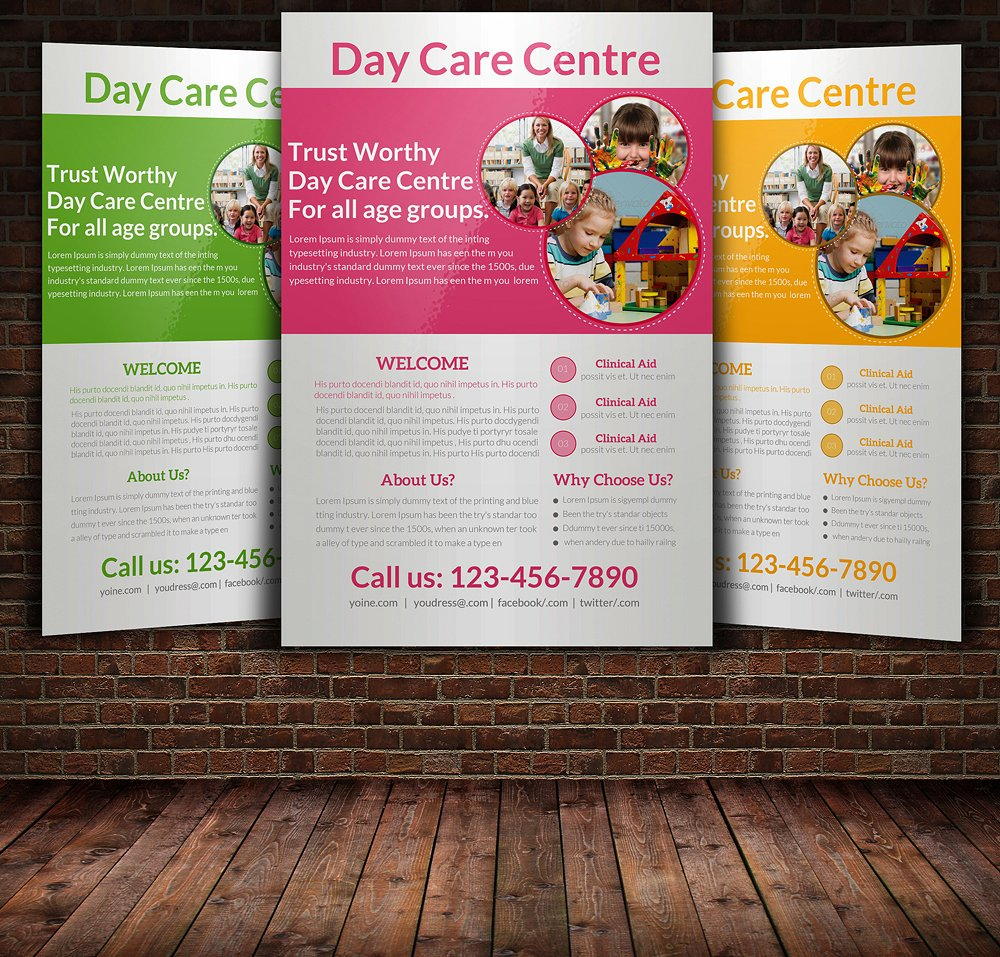 17+ Day Care Flyer Designs & Examples