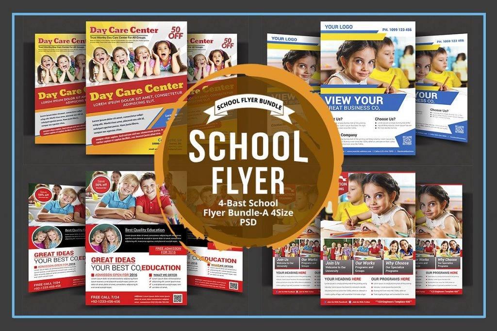 day care school flyer bundle