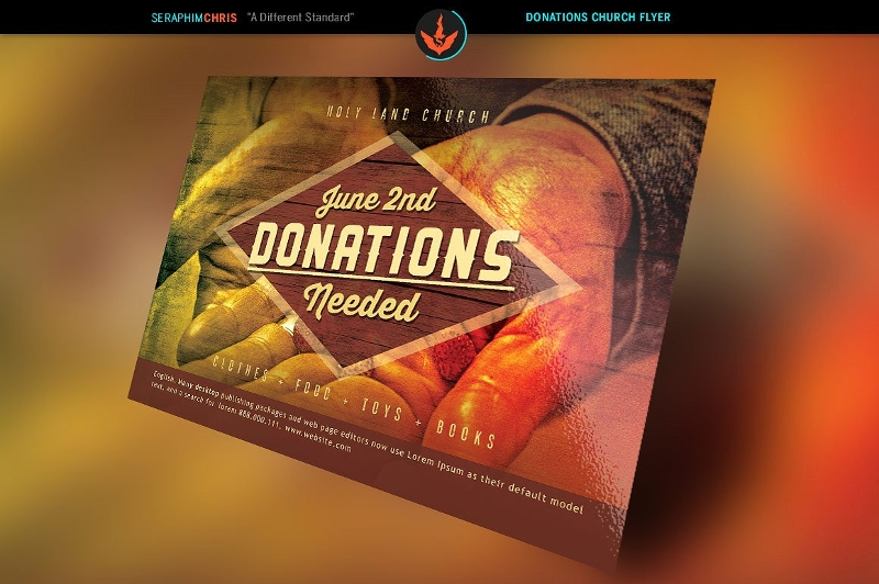 donation church flyer template2