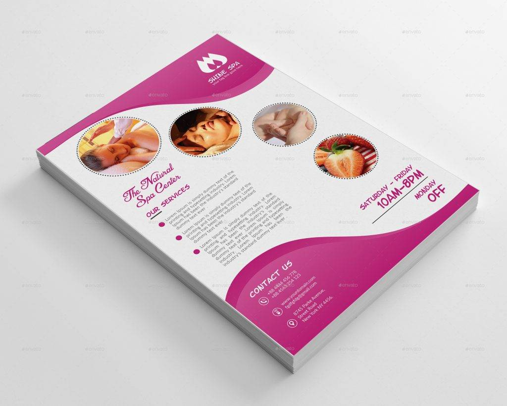 editable spa flyer