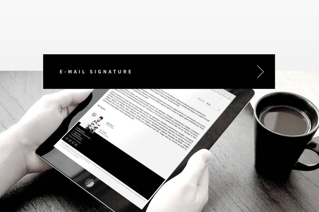 elegant email signature