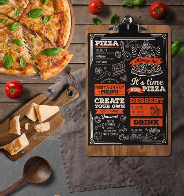 elegant italian food menu