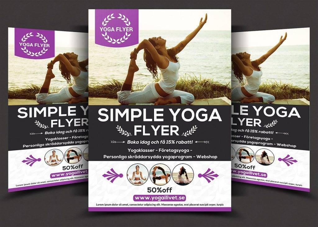 elegant yoga flyer